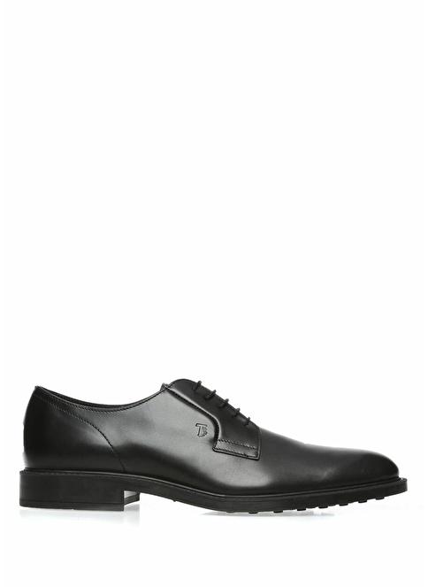 Tod's %100 Deri Bağcıklı Klasik Ayakkabı Siyah